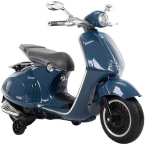 Huffy Kids' 6V Vespa Ride-On Electric Scooter for $79