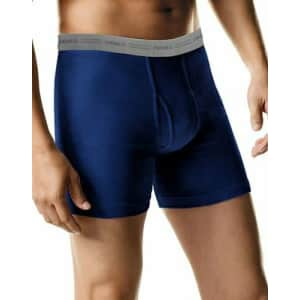 Hanes Men's Tagless Boxer Briefs 5-Pack for $12