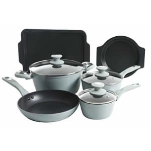 Oster Forged Aluminum Non-stick Cookware with Induction Base and Soft Touch Bakelite Handle, for $77