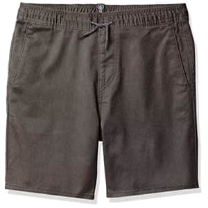 "Volcom Boys' Big Frickin Elastic Waist 15"" Chino Short, Charcoal Heather, Small for $33"