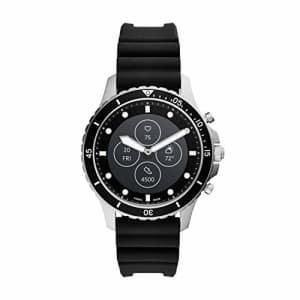 Fossil FB-01 HR Heart Rate Stainless Steel and Silicone Hybrid Smartwatch, Color: Silver/Black for $189