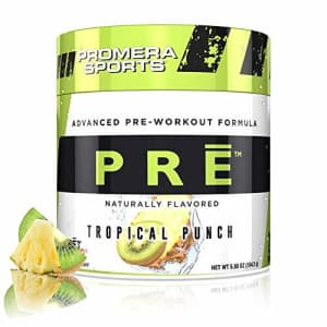 Promera Sports Advanced Pre-Workout Formula for Endurance, Energy, Focus, Tropical Punch, 20 for $25