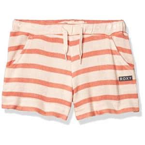 Roxy Girls' Big Sweetness Cozy Short, Peach Blush BICO Stripes, 8/S for $32