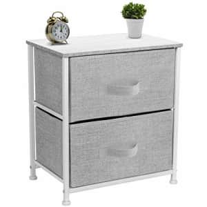 Sorbus Nightstand with 2 Drawers - Bedside Furniture & Night Stand End Table Dresser for Home, for $57
