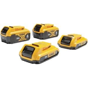 DeWalt 20V MAX Battery 4-Pack for $230