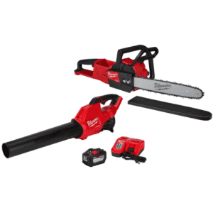 """Milwaukee Tool 18V M18 16"""" Cordless Chainsaw and Blower Tool Kit for $449"""