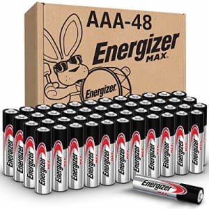Energizer Max AAA Alkaline Battery 48-Pack for $17 via Sub & Save