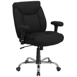 Flash Furniture HERCULES Series Big & Tall 400 lb. Rated Black Fabric Deep Tufted Swivel Ergonomic for $186