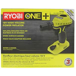 Ryobi P738 18V One+ Lithium Ion 18V One+ High Volume Power Inflator / Deflator for Mattresses and for $53