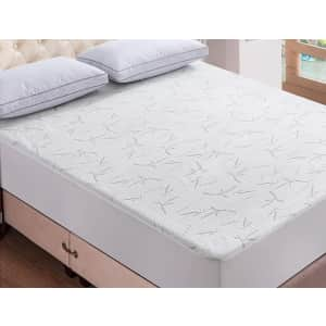 Waterproof Bamboo Quilted Mattress Pad Protector for $25