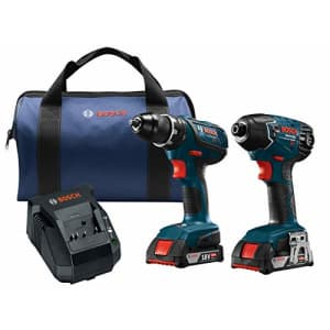 Bosch Power Tools Drill Set - CLPK232A-181 18-Volt Cordless Drill Driver/Impact Combo Kit with 2 for $350