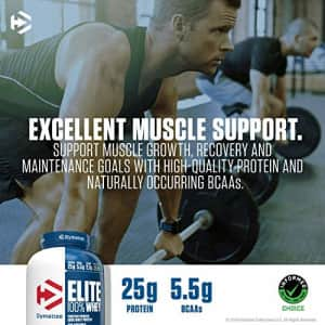 Dymatize Elite 100% Whey Protein Powder, 25g Protein, 5.5g BCAAs & 2.7g L-Leucine, Quick Absorbing for $66