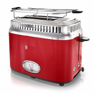 Russell Hobbs 2-Slice Retro Style Toaster, Red & Stainless Steel, TR9150RDR for $50