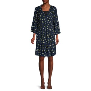 Sperry Women's Floral A-Line Tiered Dress for $15