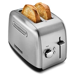 KitchenAid KMT2115SX Stainless Steel Toaster, Brushed Stainless Steel for $50