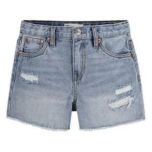 Levi's Girls' Girlfriend Fit Denim Shorty Shorts, Indigo Avenue, 2T for $14