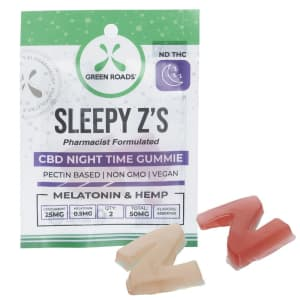 Green Roads CBD 50mg Sleepy Z's Gummies for $5