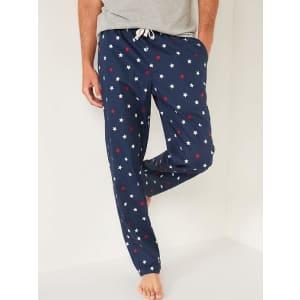 Old Navy Men's Printed Poplin Pajama Pants for $11