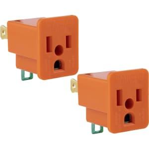 GE Polarized Grounding Adapter 2-Pack for $5