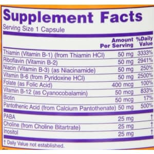 Now Foods NOW B-50 Capsules, 100 Capsules (Pack of 2) for $11