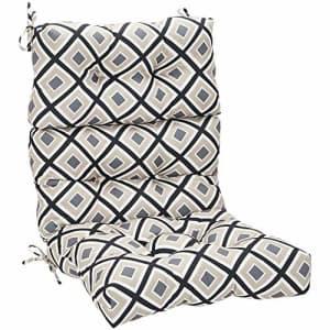 Amazon Basics Tufted Outdoor High Back Patio Chair Cushion- Black Geo for $63
