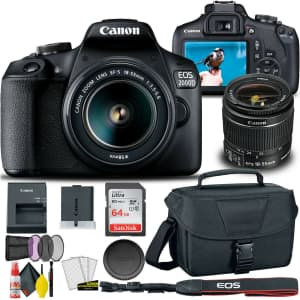 Canon EOS 2000D / Rebel T7 DSLR Camera for $440