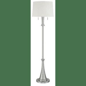 360 Lighting Karl Modern Brushed Nickel Floor Lamp for $90