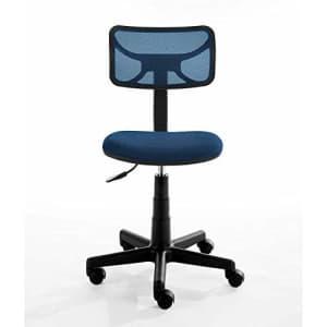 Urban Shop Swivel Mesh Desk Chair, Navy for $45