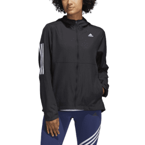 adidas Women's Own the Run Hooded Wind Jacket for $24 in-cart