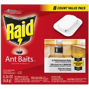 Raid Ant Baits 8-Pack for $4