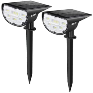Jesled 14-LED Landscape Spotlights 2-Pack for $22