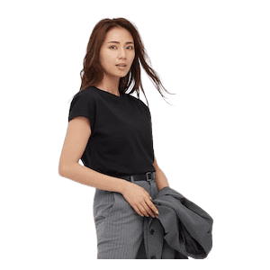 Uniqlo Women's Smooth Cotton French Sleeve T-Shirt for $10