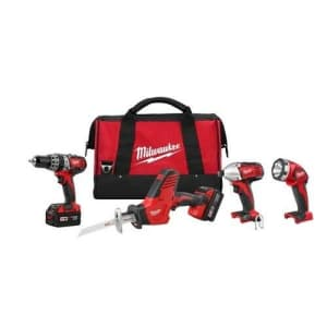 Milwaukee Tools M18 4-Piece Combo Kit for $350