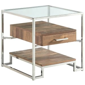 """Picket House Furnishings Hampton 24"""" Glass-Top Storage End Table for $142"""
