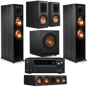 Klipsch Reference Premiere 5.1-Ch. Channel Home Theater System w/ Receiver for $2,199