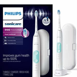 Philips Sonicare HX6857/11 ProtectiveClean 5100 Rechargeable Electric Toothbrush, White for $72