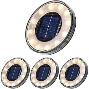 Tomshine Solar Ground Light 4-Pack for $36