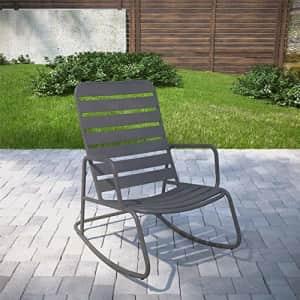 Novogratz 88065CHC1E Poolside Gossip Collection, Roberta Outdoor/Indoor Rocking Chair, Charcoal for $116