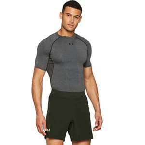 "Under Armour Men's Speedpocket Swyft 7"" Shorts, Artillery Green (357)/Reflective, XX-Large for $50"