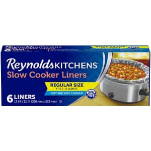 Reynolds Kitchens 6-Count Premium Slow Cooker Liners for $3.02 via Sub & Save