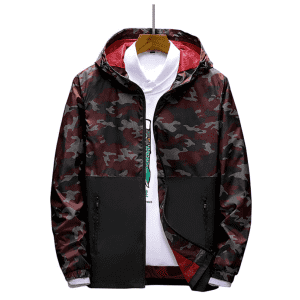 Men's Camouflage Hoodie Jacket: 2 for $26
