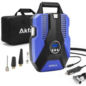 Akface Portable Air Compressor Tire Inflator for $27
