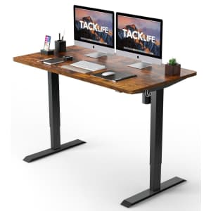 """Tacklife 48"""" x 24"""" Electric Standing Desk for $170"""
