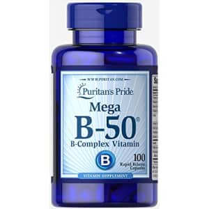 Puritan's Pride Vitamin B-50 Complex, Nervous System Support, 100 Count for $15