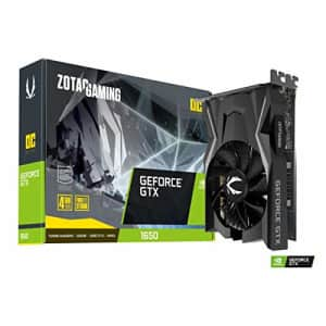 ZOTAC GAMING GeForce GTX 1650 OC 4GB GDDR6 128-bit Gaming Graphics Card, Super Compact, for $300
