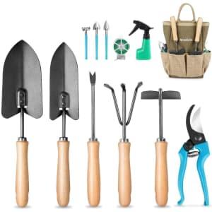 Mosfiata 12-Piece Garden Tools Set for $19