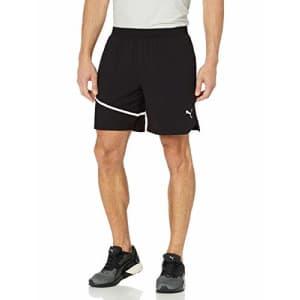 "PUMA Men's 7"" Woven Running Shorts, Black, XL for $40"