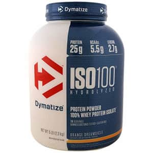 Dymatize ISO 100 Hydrolyzed 100% Whey Protein Isolate - Orange Dreamsicle, 5-Pound for $130