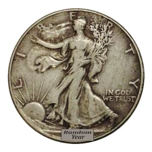 $10 Face Value 90% Silver Walking Liberty Half Dollars 20-Pack for $227