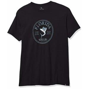 Rip Curl Men's Big Boys' SAILFISHING Premium TEE Shirt, Black, S for $9